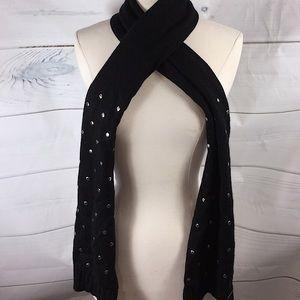 Michael Kors Knit Scarf Black W Silver Studs